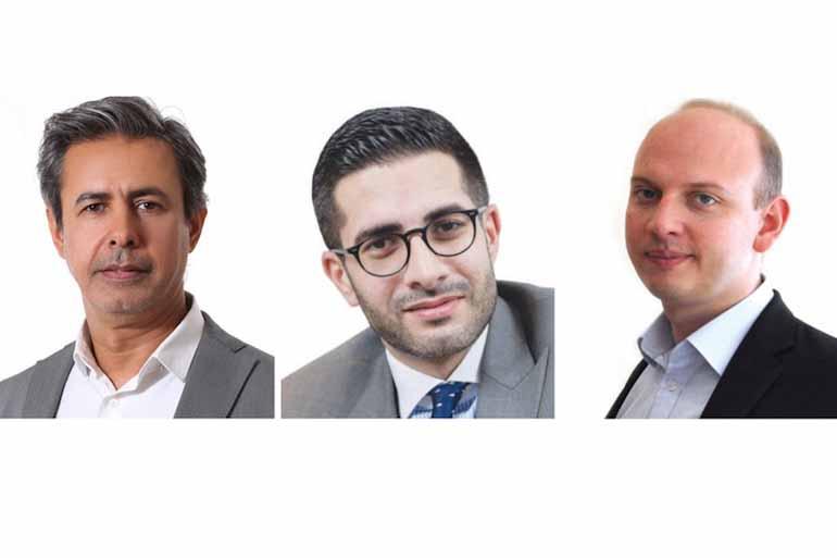 Arab News: L-R Baker Atyani, Faisal J. Abbas and Ben Flanagan