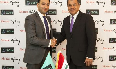 Mr. Ali Al-Zahid CEO of Zain Iraq qith Naji Bolous MD of Memac Ogilvy Beirut