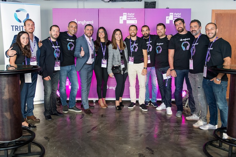 The Anghami and DMS Teams at the First Digital Audio Day