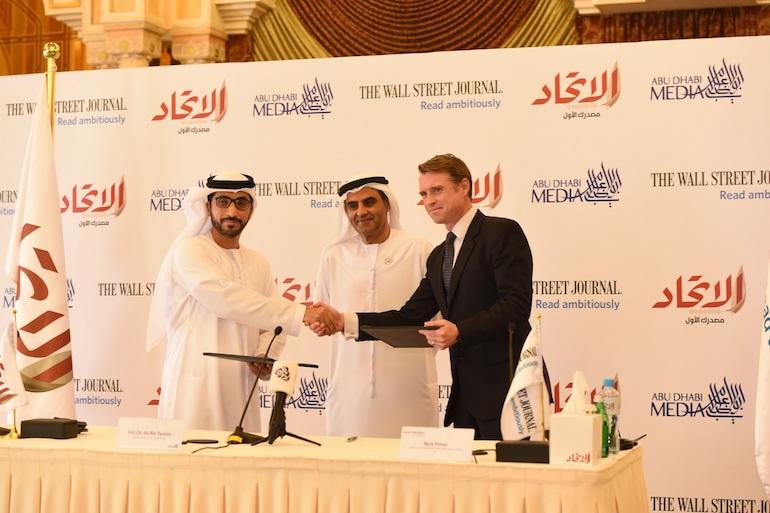 Aletihad and WSJ agreement ceremony